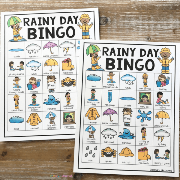 Rainy Day bingo