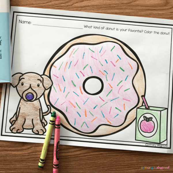 Literacy Snack Idea If You Give A Dog A Donut free printable