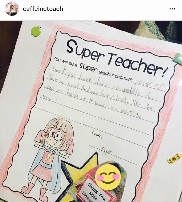 Student Teacher - Super Teacher Gift Idea