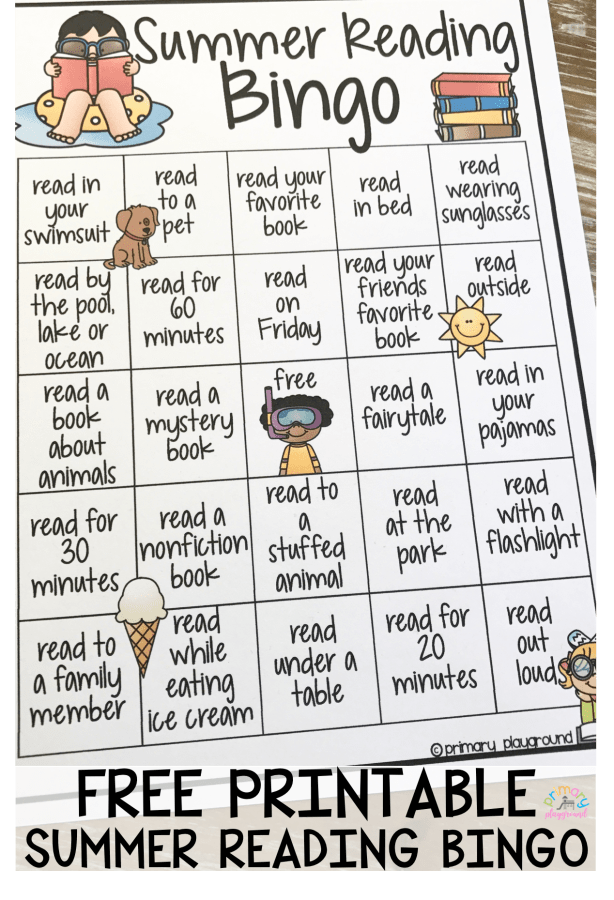 Free Printable Summer Reading Bingo