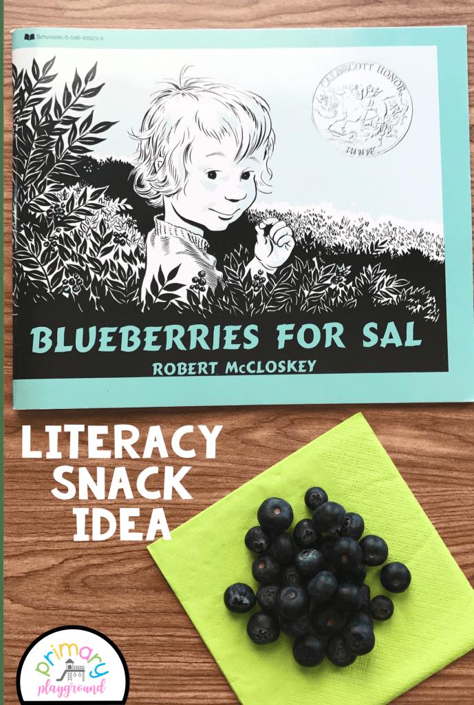Literacy Snack Idea Blueberries + Free Printable