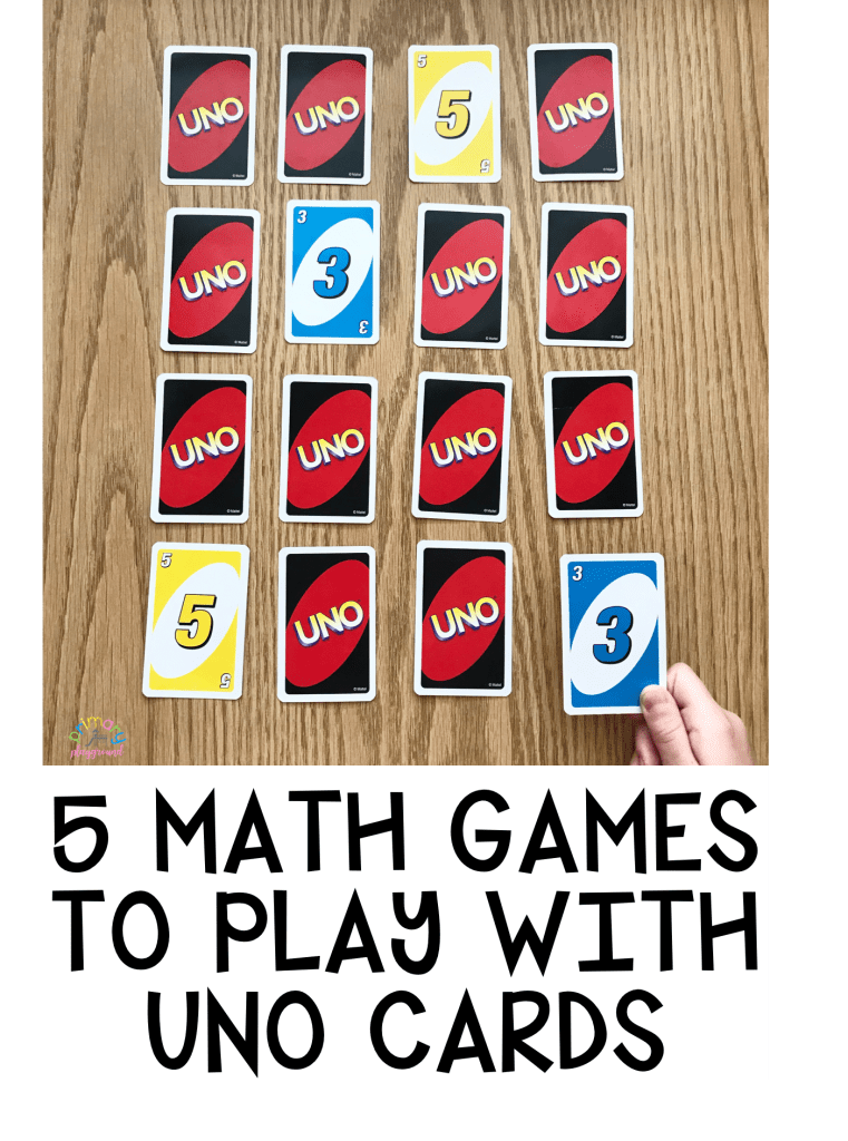 5 Math Games To Play with UNO Cards