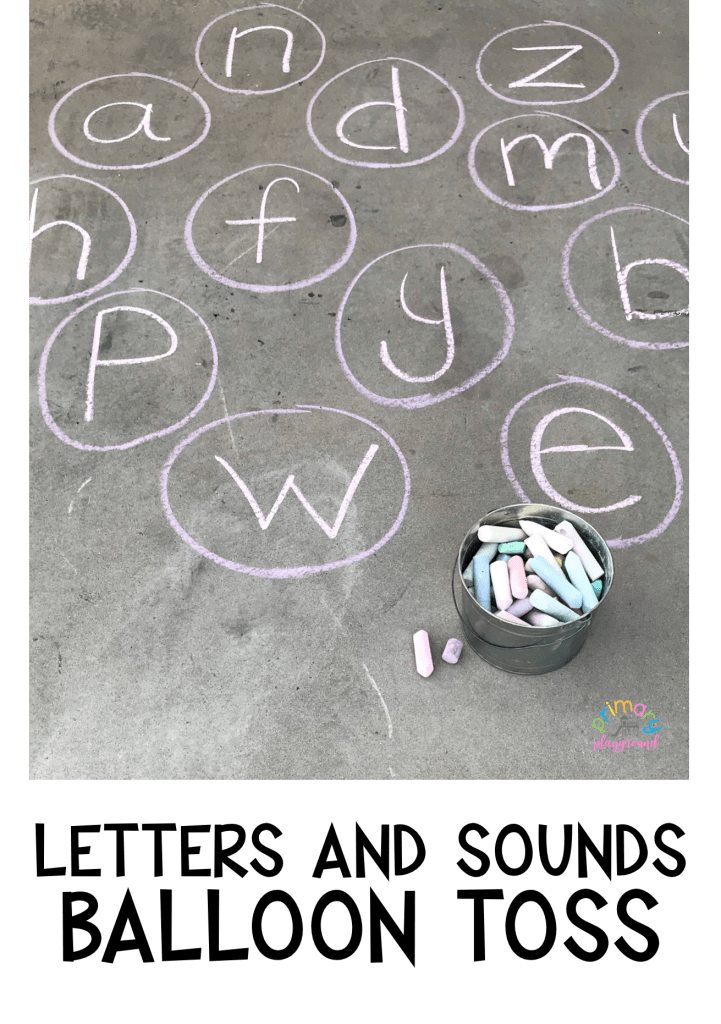 letters and sounds balloon toss