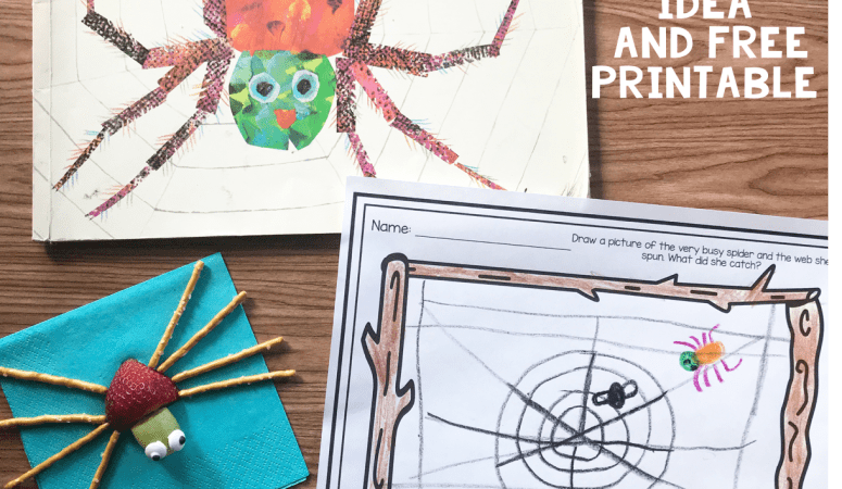 Literacy Snack Idea Spider + Free Printable