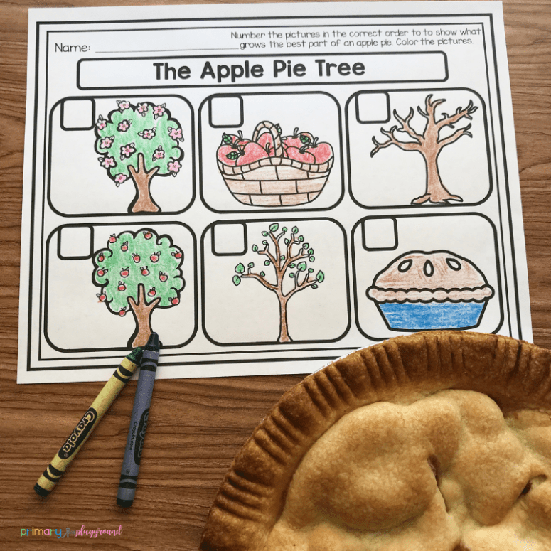 Literacy Snack Idea Apple Tree - free printable