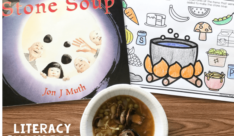 Literacy Snack idea Soup + Free Printable