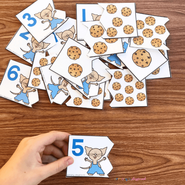 free printable counting cookies puzzle