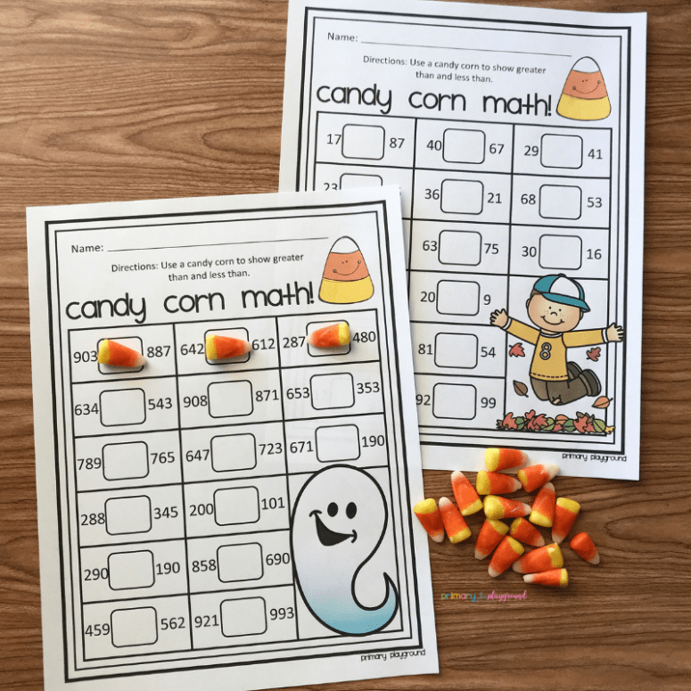 free printable candy corn math