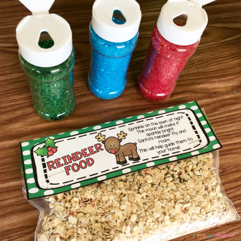 free printable reindeer food bag toppers