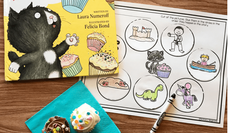 Literacy Snack Idea Cupcake + Free Printable