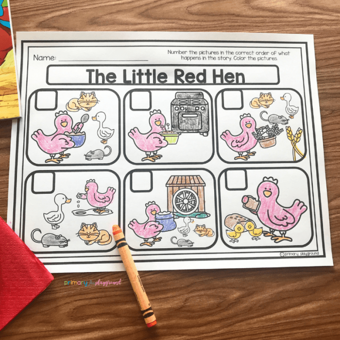 literacy snack idea red hen free printable