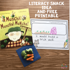 Literacy Snack Idea Garden Muncha! Muncha! Muncha!
