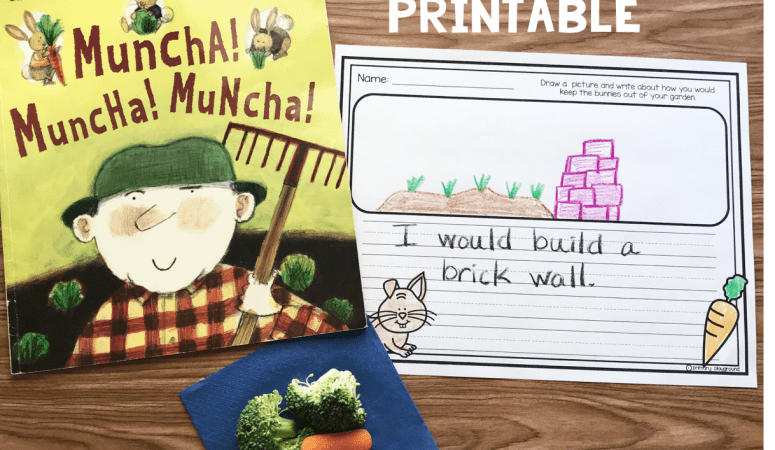 Literacy Snack Idea Garden + Free Printable