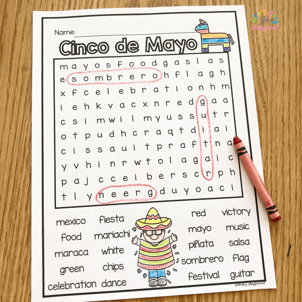 Free Printable Cinco de Mayo Word Search