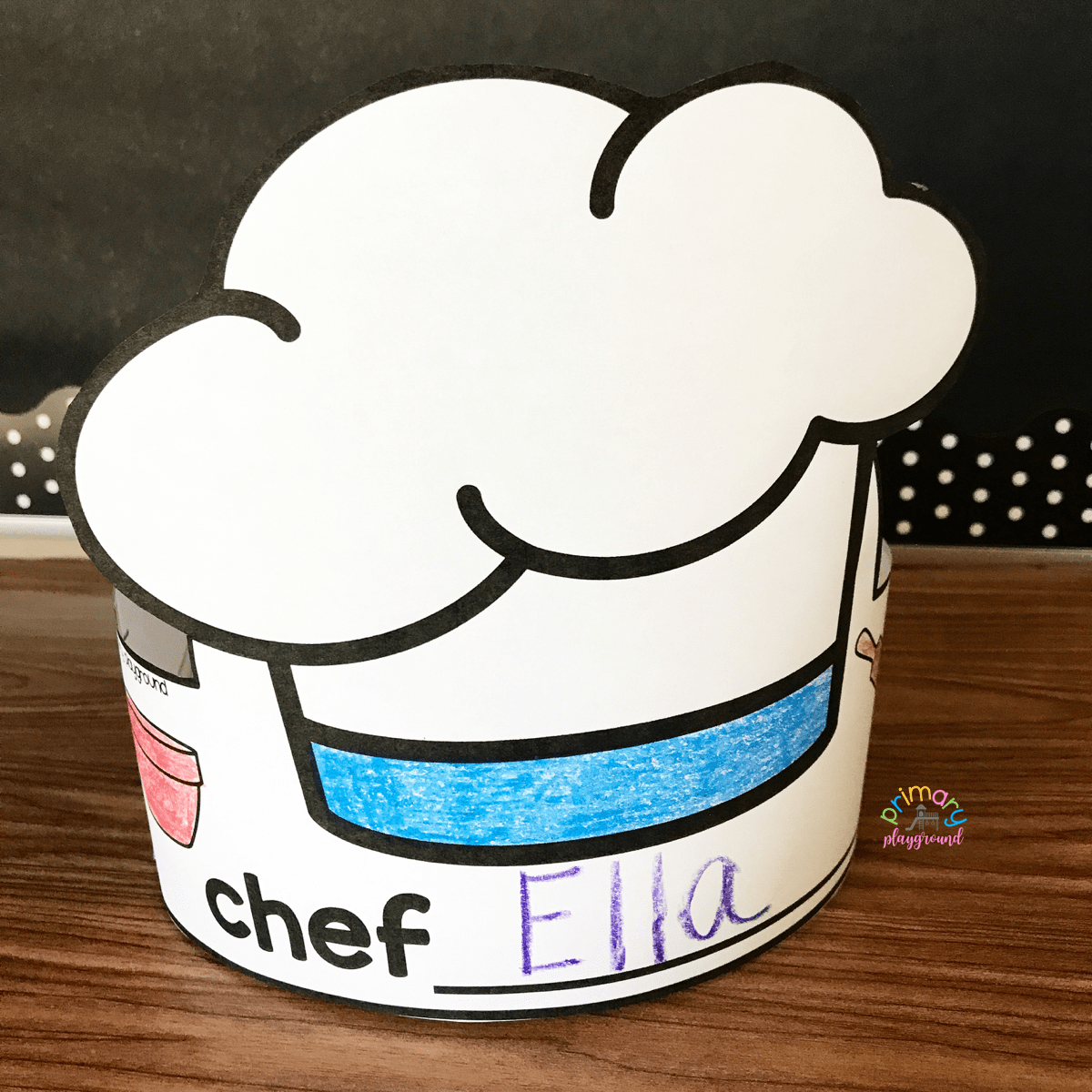 picture regarding Printable Chef Hat referred to as Free of charge Printable Chef Hat - Principal Playground