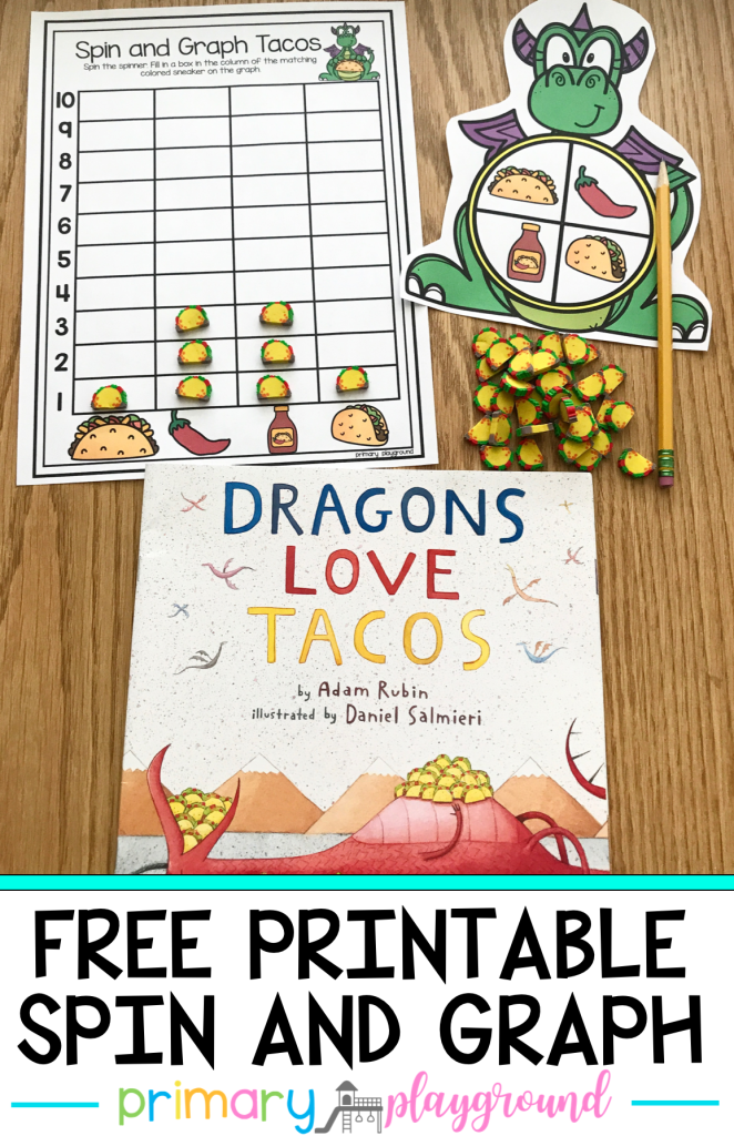 Free Printable Dragon Tacos Spin and Graph
