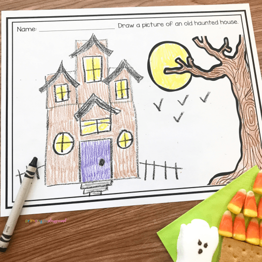 Literacy Snack Idea Haunted House