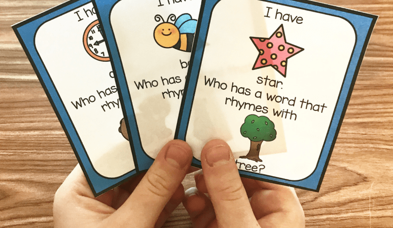 Free Printable Rhyming I Have Who Has Game