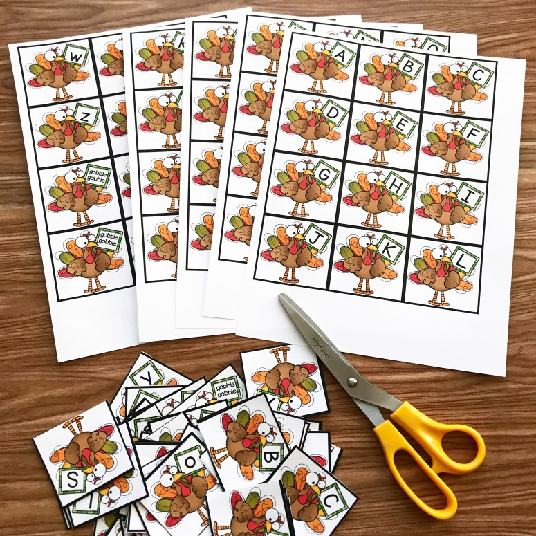 Gobble Gobble! A Beginning Sounds Game