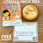 Literacy Snack Idea 4th Of July