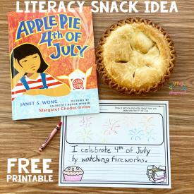 Literacy Snack Idea 4th Of July