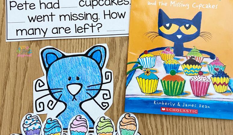 Cupcake Subtraction Craft Activity
