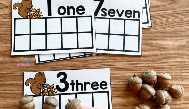 Free Printable Acorn Ten Frame Cards