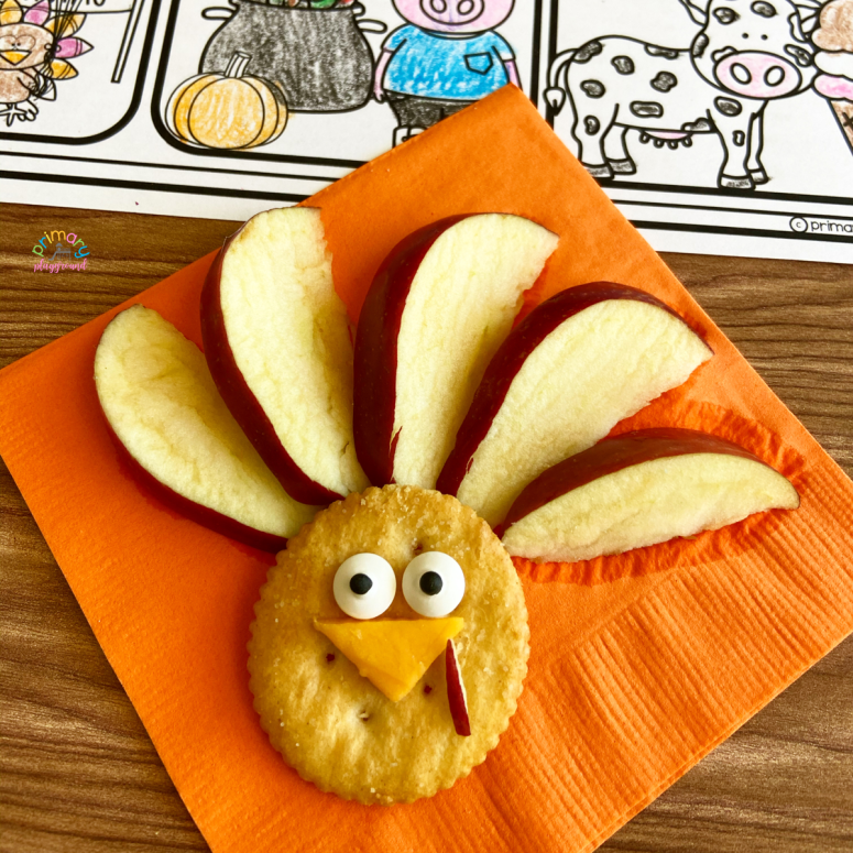 Literacy Snack Idea Stuffed Turkey Turkey snack