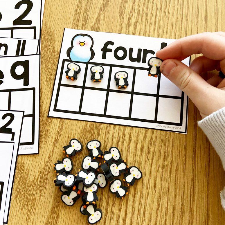 penguin-ten-frame-cards