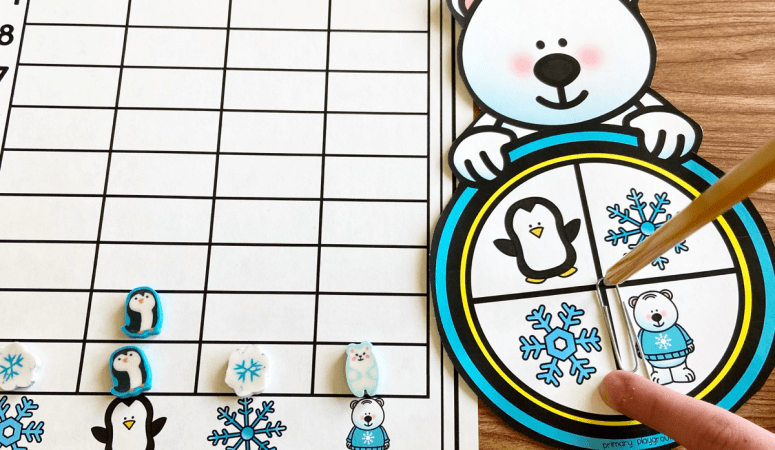Free Printable Winter Spin and Graph