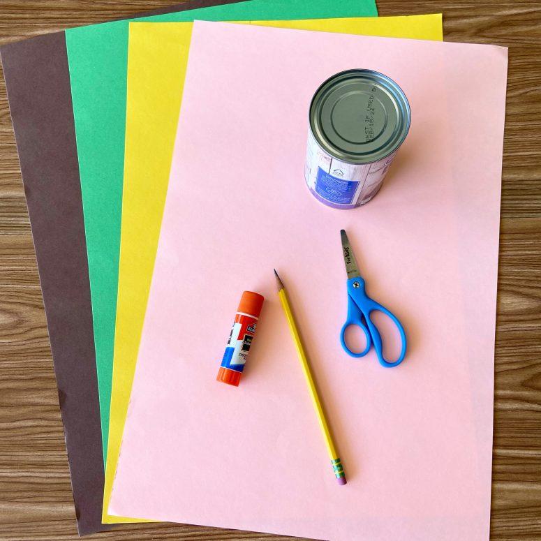 Parts Of A Flower Handprint Craft supplies