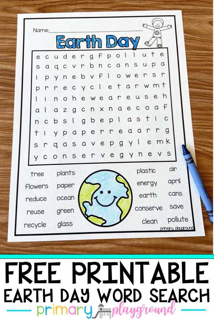 Need a fun way Earth Day activity? Come grab our Free Printable Earth Day Word Search. Perfect for reviewing Earth Day vocabulary!