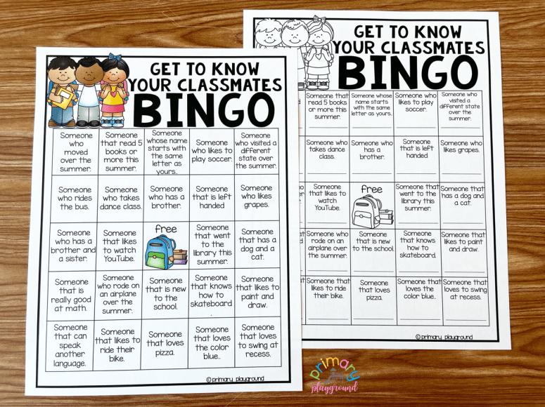Free Printable Get To Know Your Classmates Bingo