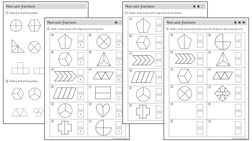 small resolution of Non-unit fractions   Worksheets – Primary Stars Education