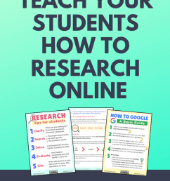 How to Teach Online Research Skills to Students   5 Steps for Teaching  Students How to Search and Filter Information [ 1102 x 735 Pixel ]
