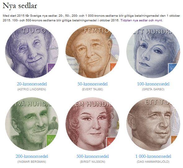 nya sedlar - sveriges riksbank