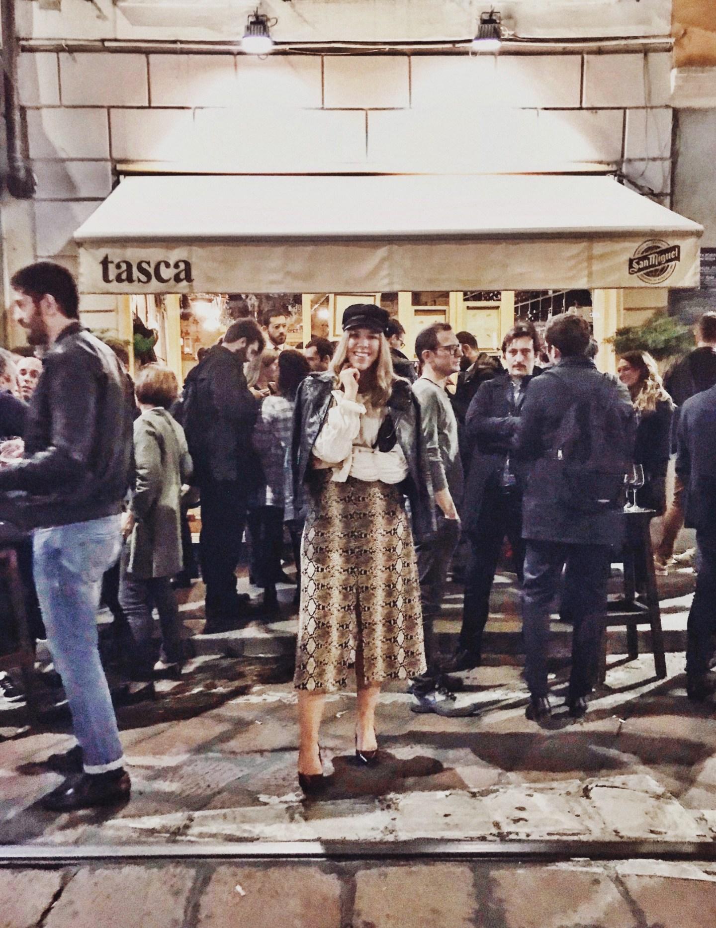 Aperitivo på La Tasca, Milano