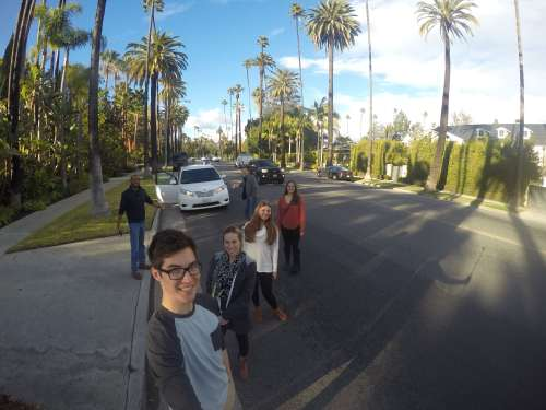 Driving in Beverly Hills