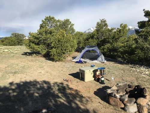 campsite in colorado mountains