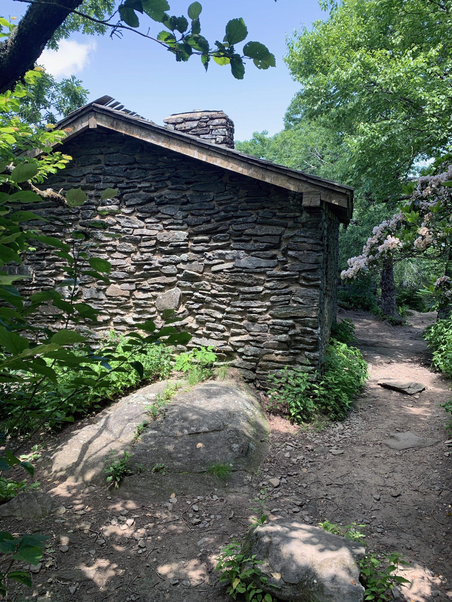 Brick shelter on Blood Mountain Hike