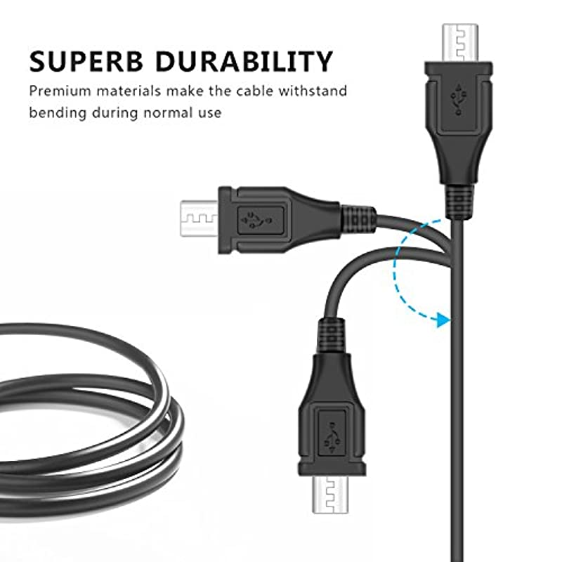 LeSB 3M Micro USB Extra Long Charger Cable for Playstation