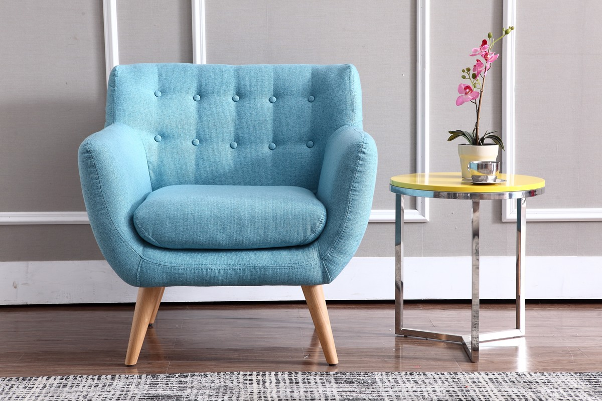 Turquoise Side Chair Modern Turquoise Fabric Accent Chair Omaha Nebraska Vig
