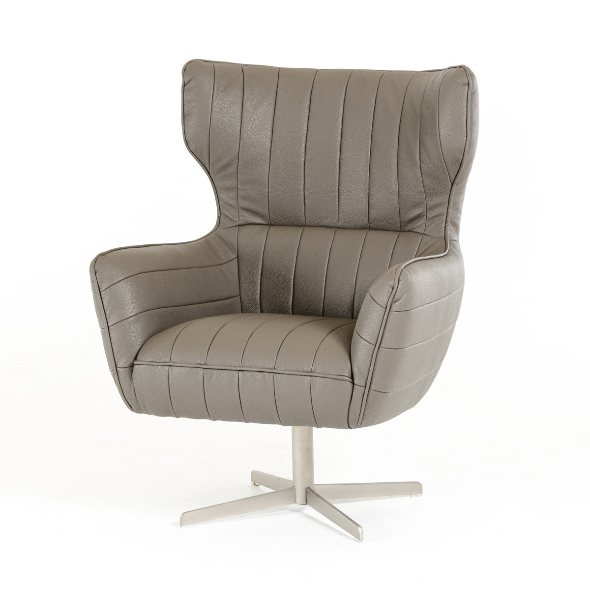 Grey Leather Club Chair Grey Leather Swivel Accent Chair With Tufting El Paso