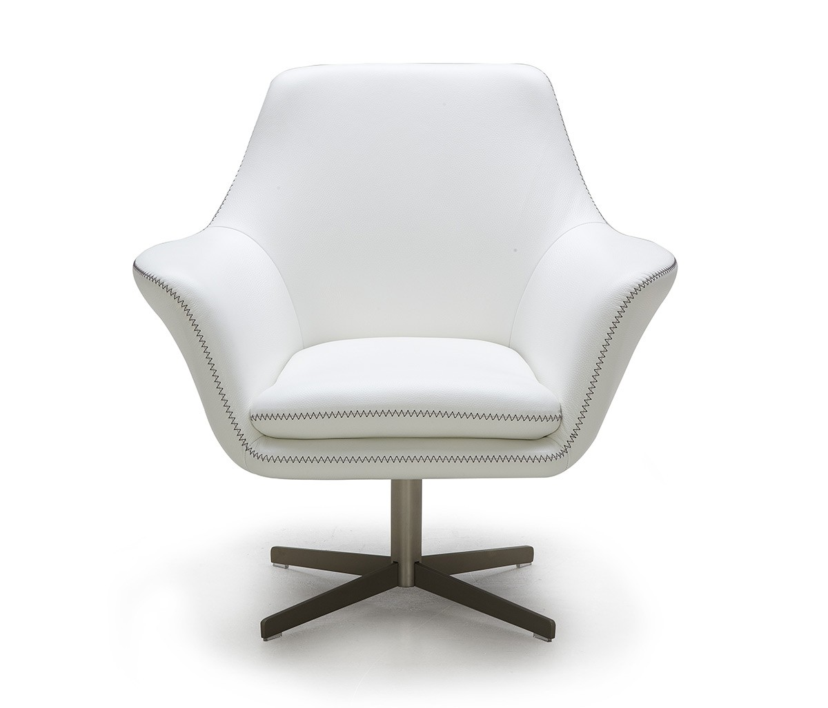 White Leather Swivel Chair Modern White Leather Swivel Lounge Chair Fort Worth Texas