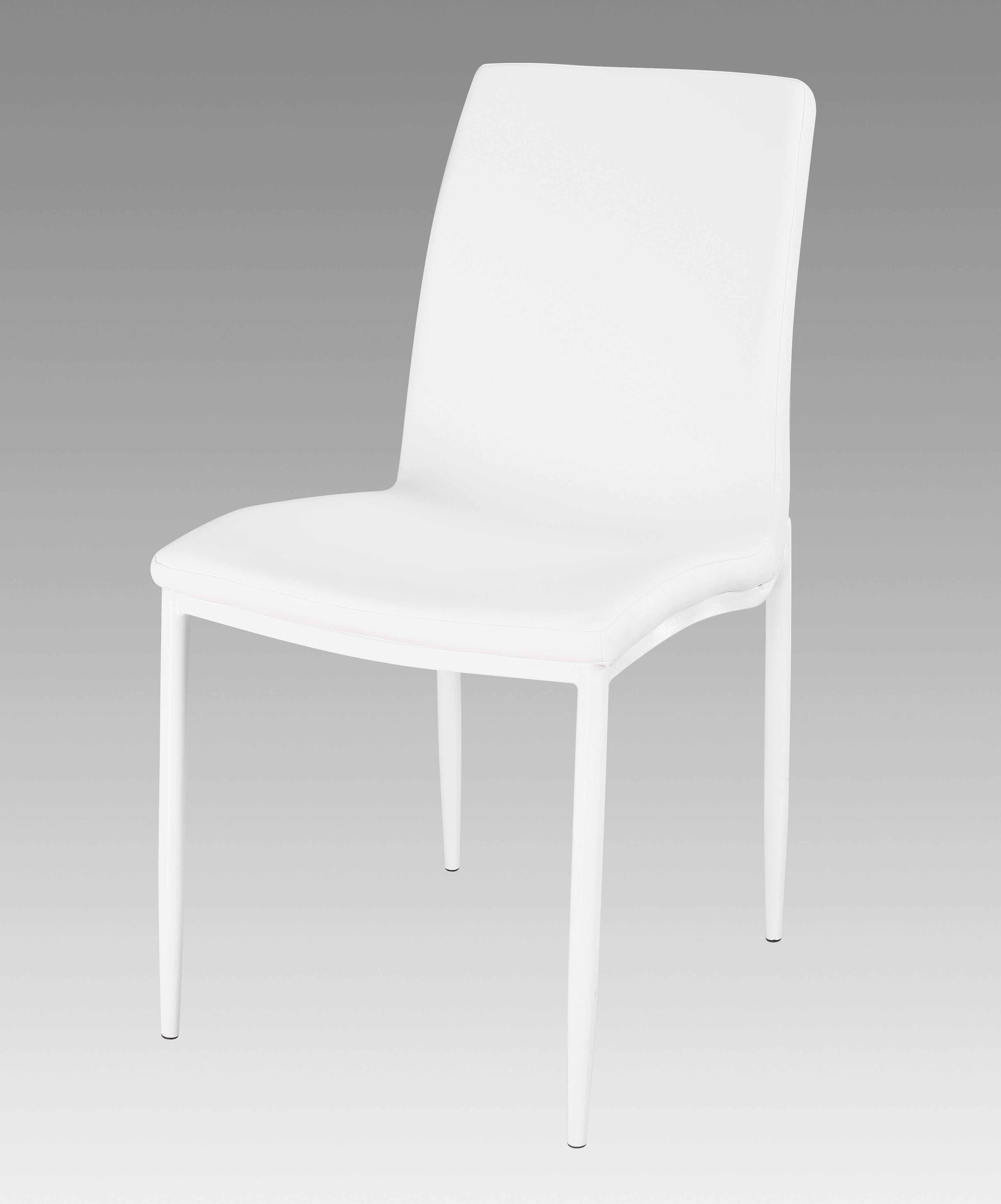 White Upholstered Chair White Upholstered Side Chairs With Glossy White Finished