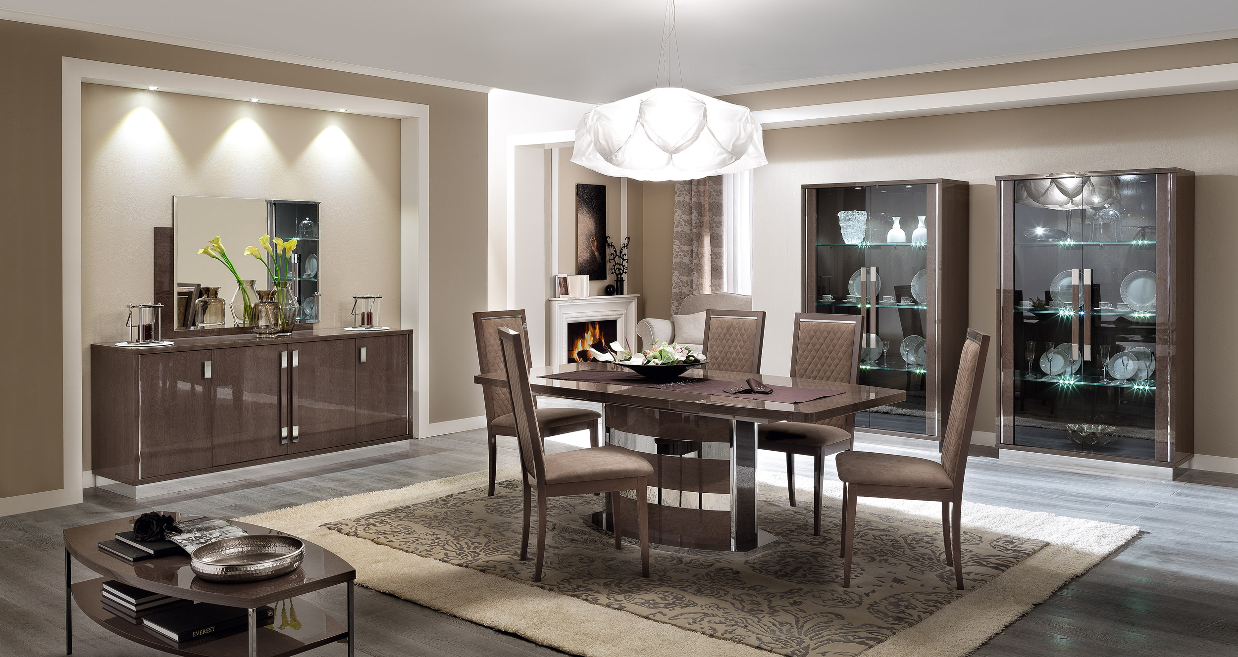 Unique Rectangular In Wood Modern Dining Set New York New