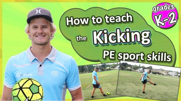 soccer kicking skills video kids teach gym class teacher
