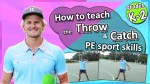 throwing catching sport gym class elementary