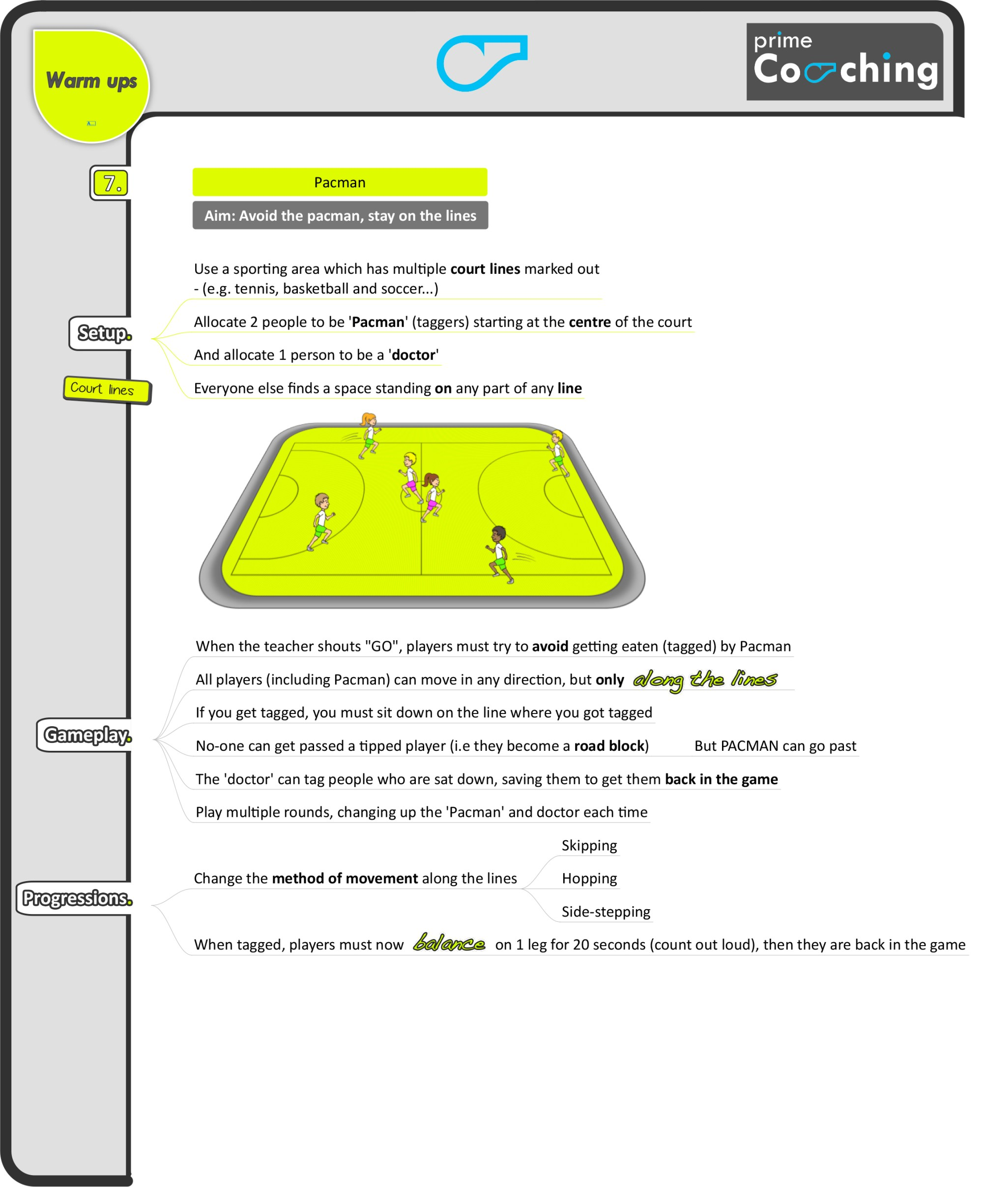 hight resolution of 8 great PE warm-up games – Prime Coaching Sport
