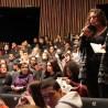 Intervention d'une lycéenne lors du débat